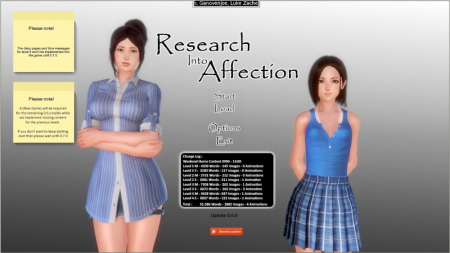 Research Into Affection Game Walkthrough Download for PC
